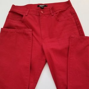 DKNY Vintage Red Jeans